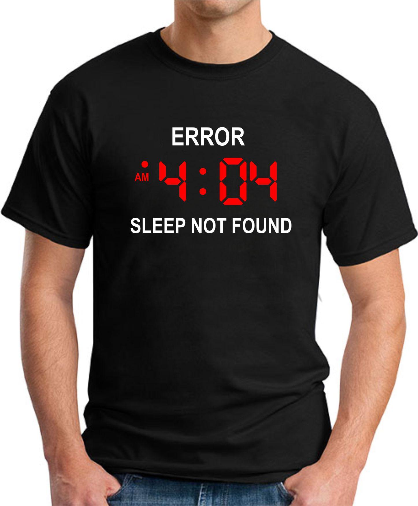 ERROR 404 SLEEP NOT FOUND black
