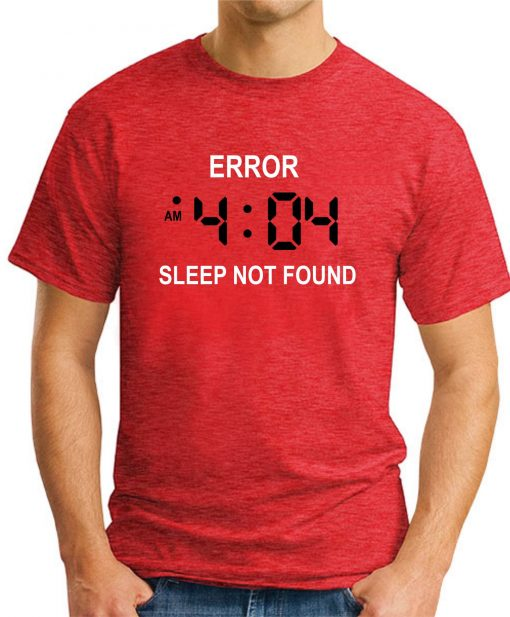 ERROR 404 SLEEP NOT FOUND red