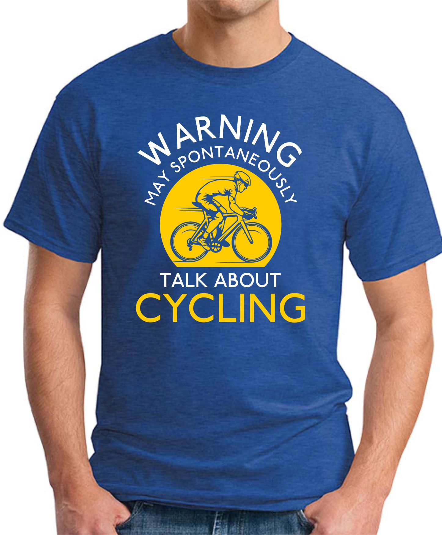 MAY SPONTANEOUSLY TALK ABOUT CYCLING royal blue
