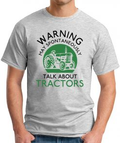 WARNING MAY SPONTANEOUSLY TALK ABOUT TRACTORS ash grey