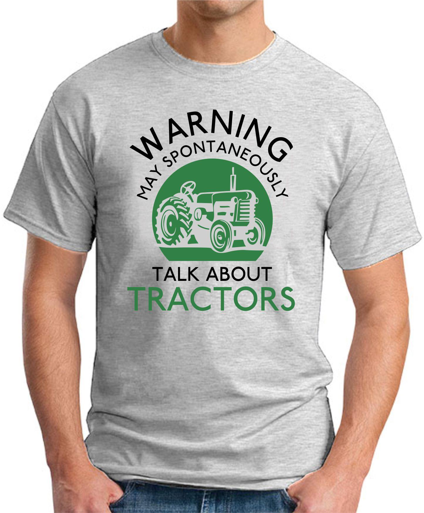 WARNING MAY SPONTANEOUSLY TALK ABOUT TRACTORS ash grey