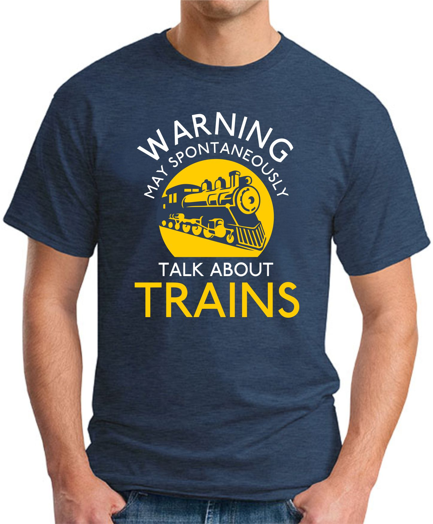 MAY SPONTANEOUSLY TALK ABOUT TRAINS navy