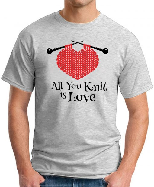 ALL YOU KNIT IS LOVE ash grey