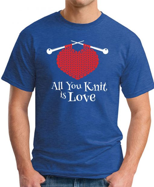 ALL YOU KNIT IS LOVE royal blue