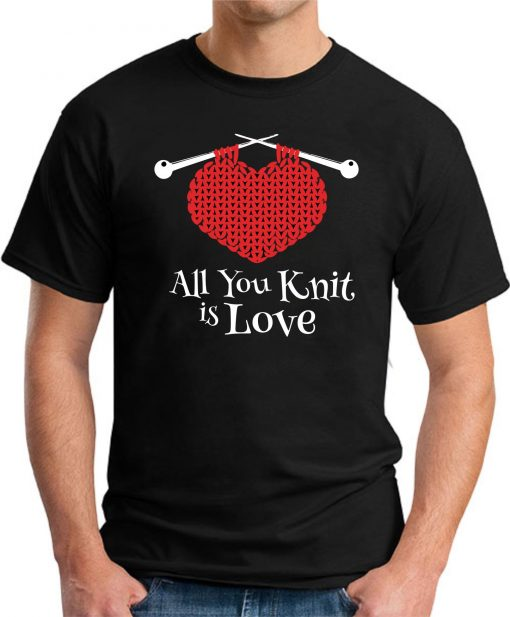 ALL YOU KNIT IS LOVE black