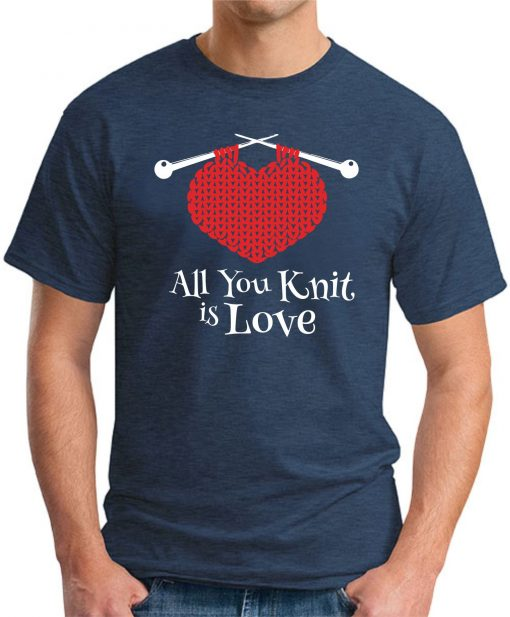 ALL YOU KNIT IS LOVE navy