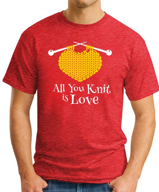 ALL YOU KNIT IS LOVE red