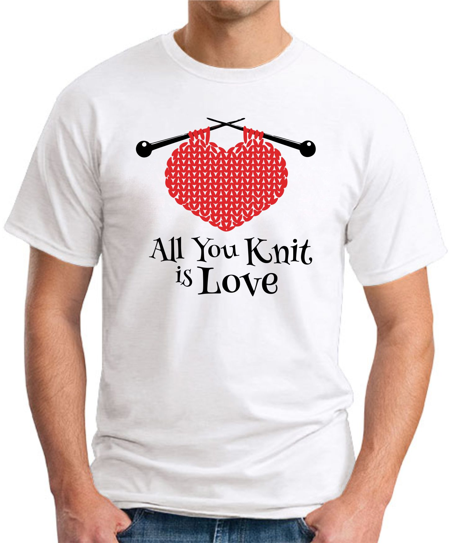 ALL YOU KNIT IS LOVE white