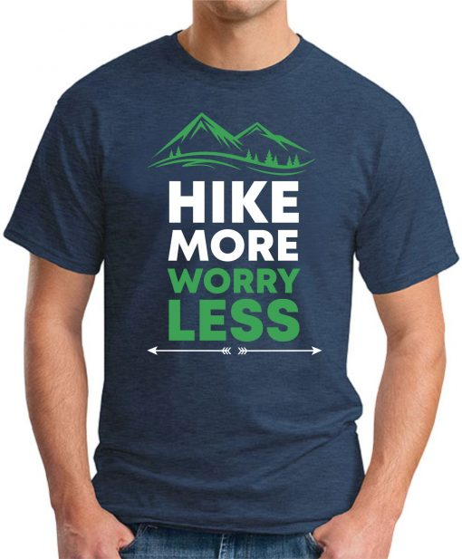 Hike More Worry Less navy