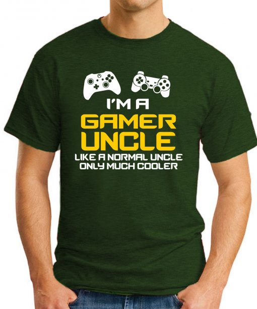I'M A GAMER UNCLE forest green