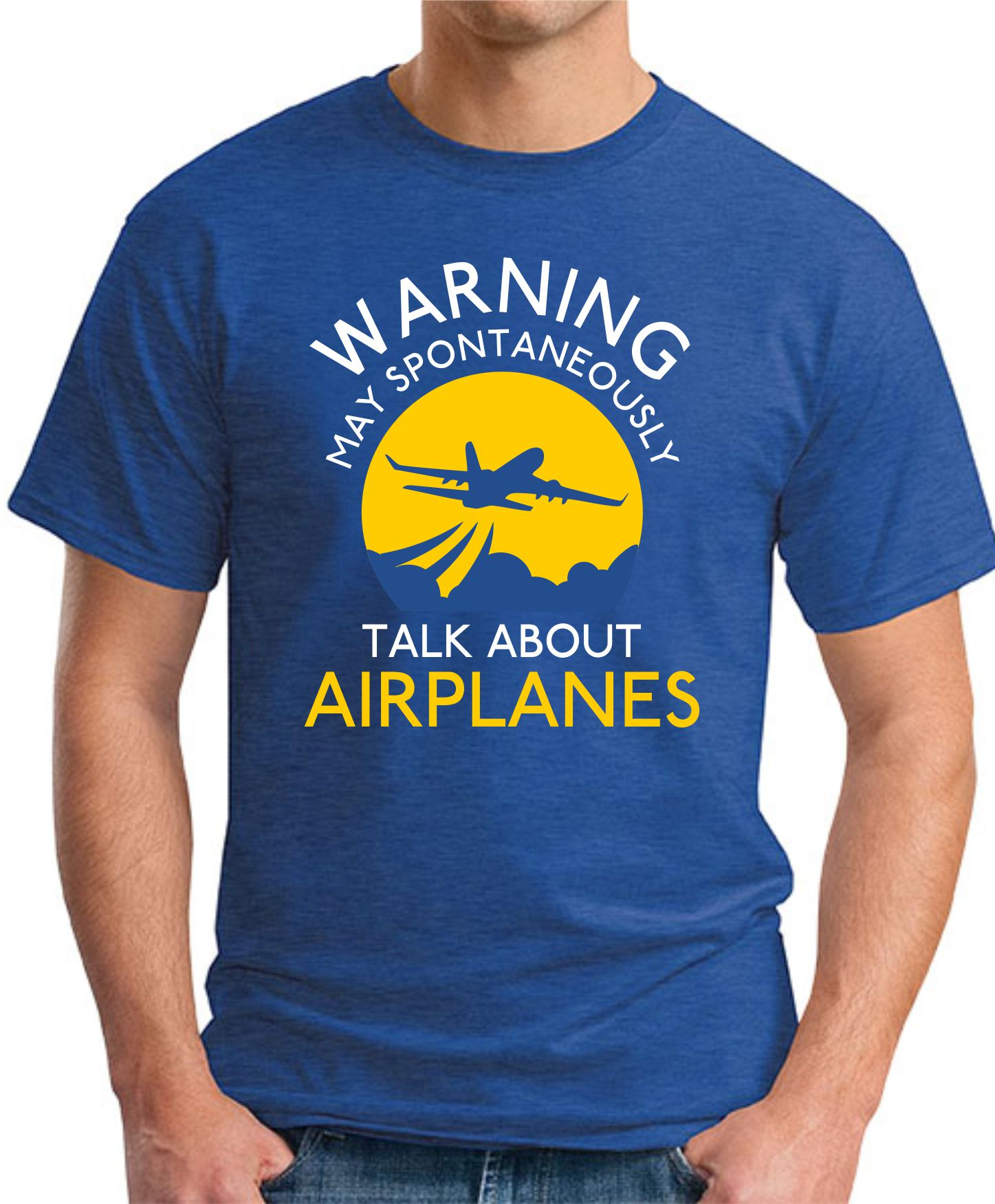 WARNING MAY SPONTANEOUSLY TALK ABOUT AEROPLANES ROYAL BLUE