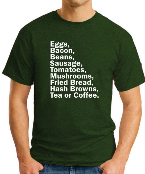 EGGS BACON BEANS SAUSAGE forest green