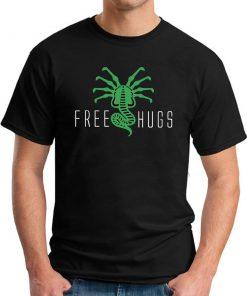 FREE HUGS ALIEN black
