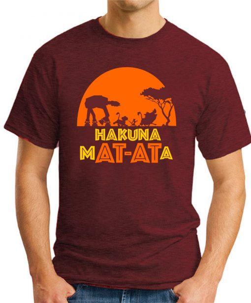 HAKUNA MAT-ATA maroon