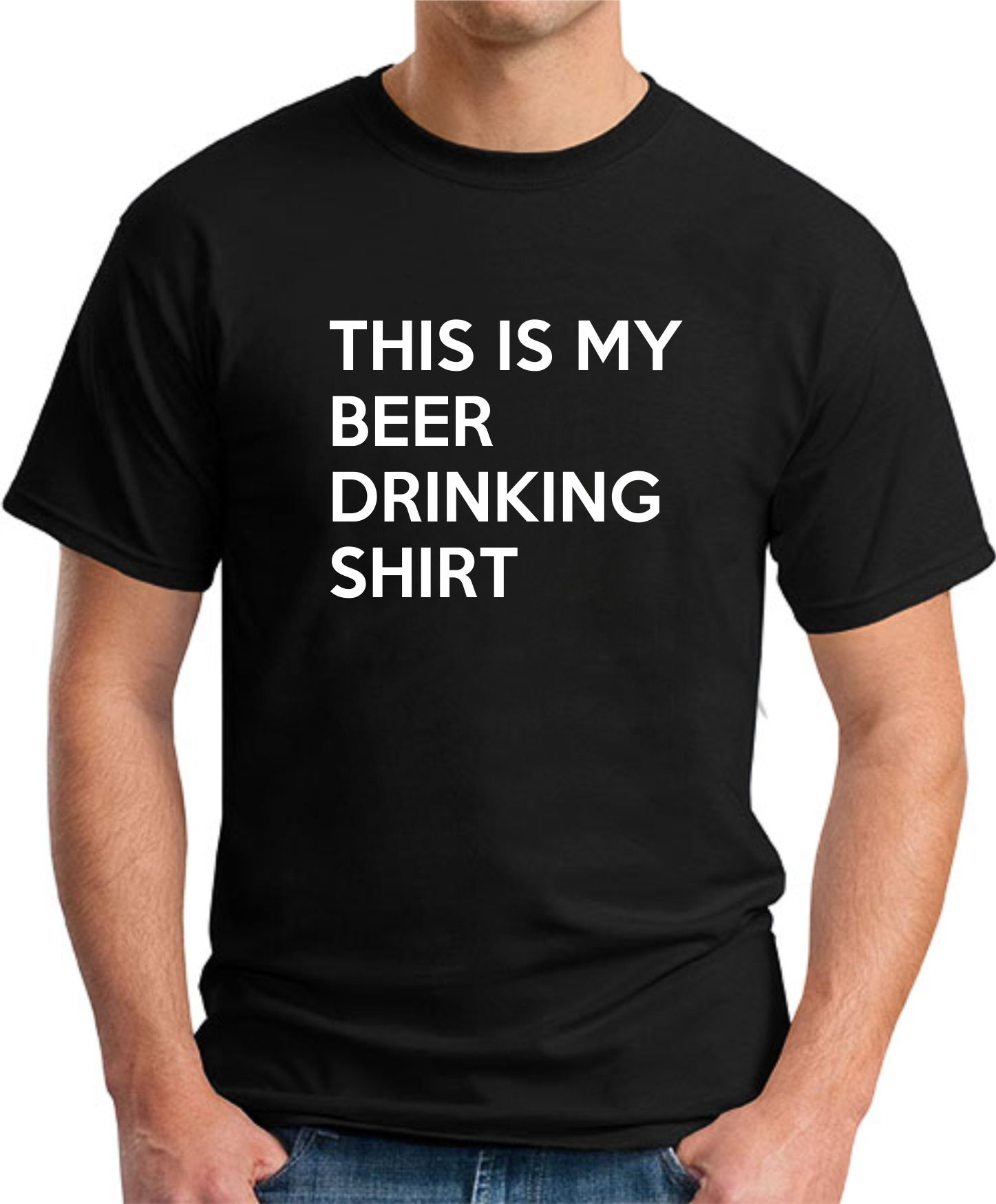 THIS IS MY DRINKING SHIRT black