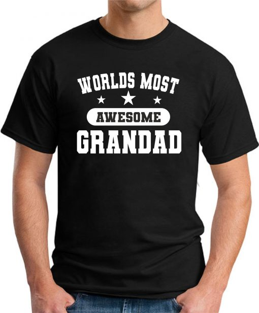 WORLDS MOST AWESOME GRANDAD black