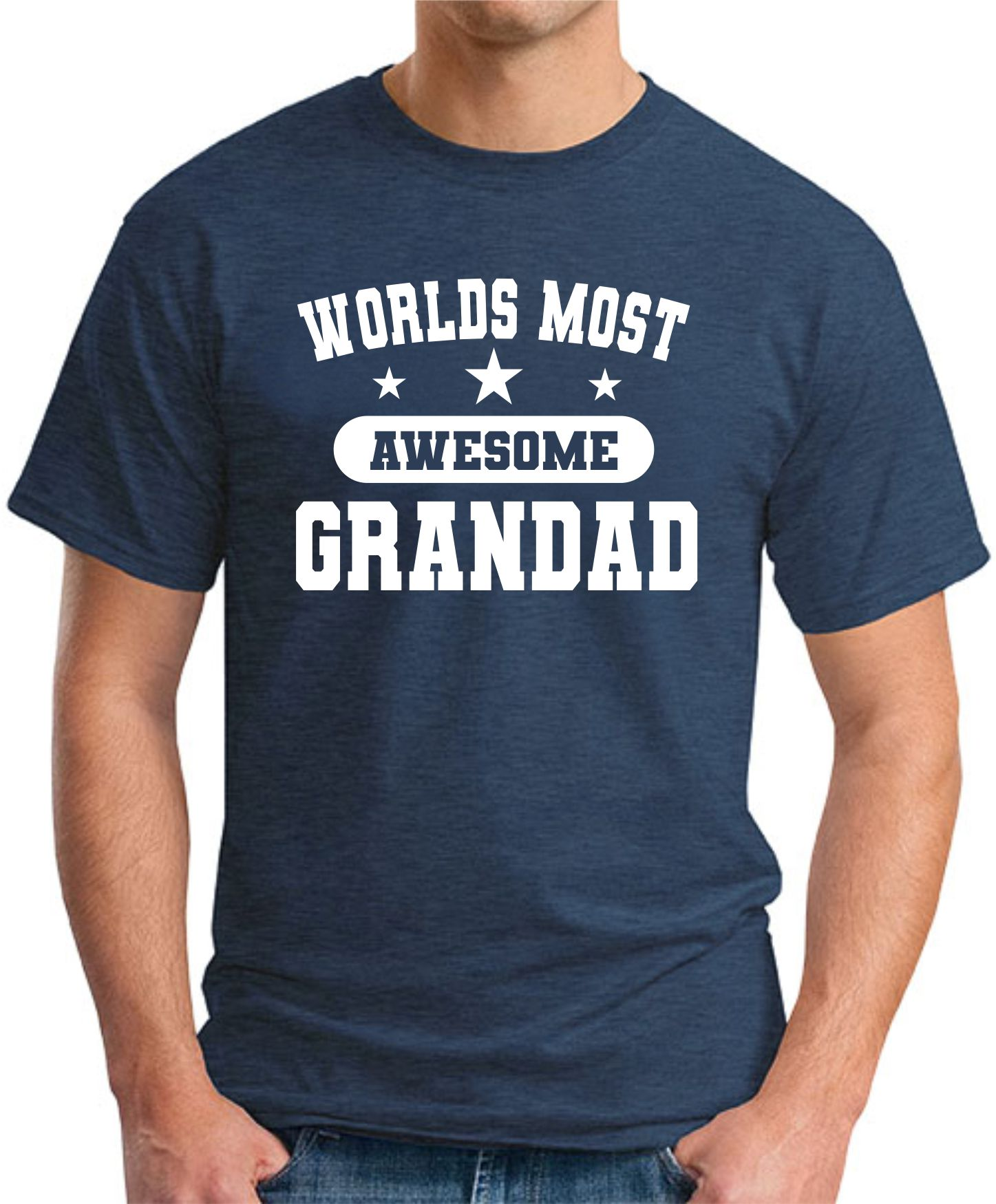 WORLDS MOST AWESOME GRANDAD navy