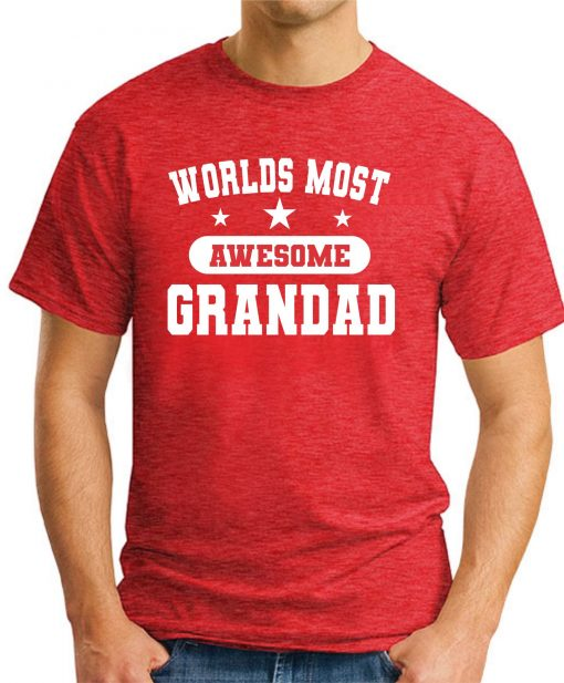 WORLDS MOST AWESOME GRANDAD red