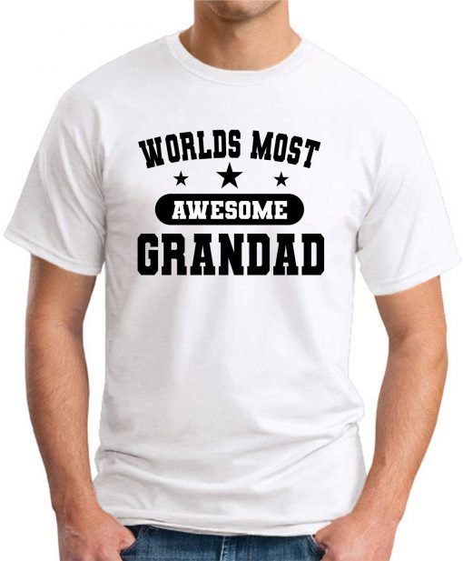 WORLDS MOST AWESOME GRANDAD white