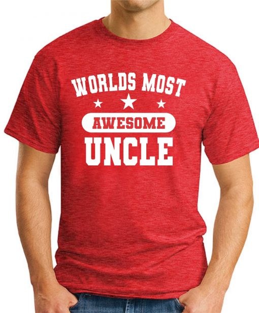 WORLDS MOST AWESOME UNCLE red