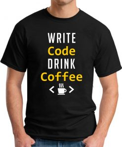 WRITE CODE DRINK COFFEE black