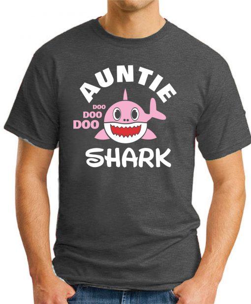 AUNTIE SHARK dark heather