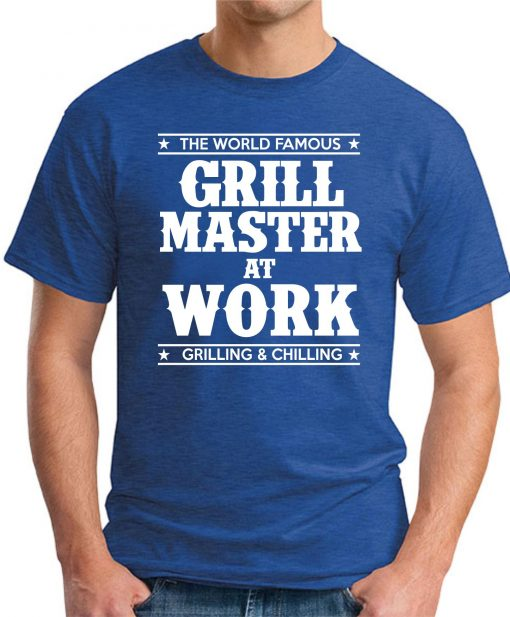 GRILL MASTER AT WORK royal blue