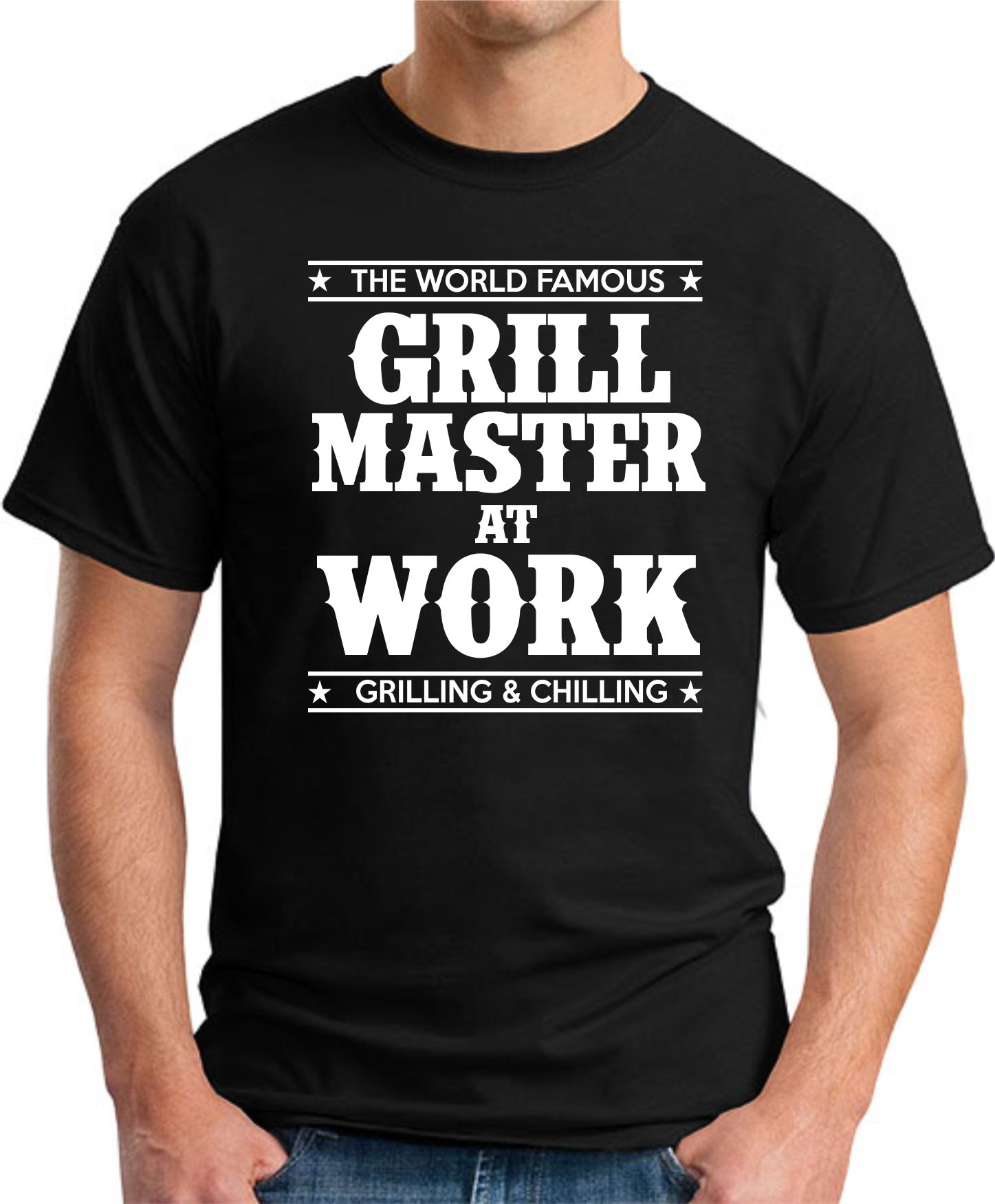 GRILL MASTER AT WORK black