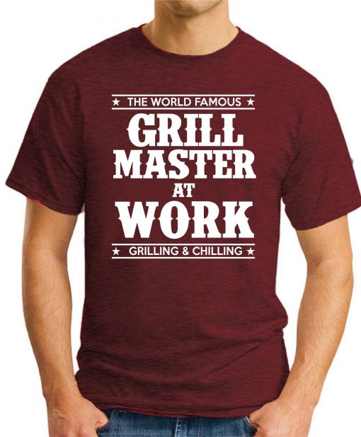 GRILL MASTER AT WORK maroon