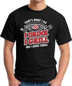 I DRINK I GRILL black