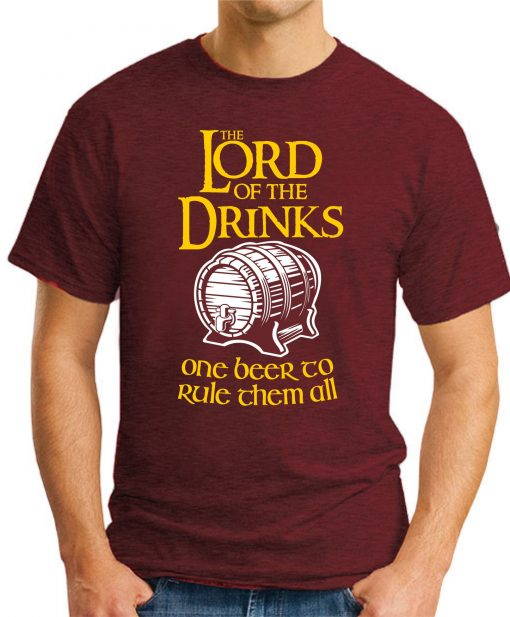 LORD OF THE DRINKS maroon