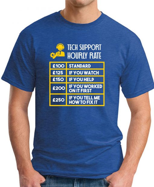 TECH SUPPORT HOURLY RATE royal blue
