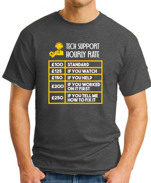 TECH SUPPORT HOURLY RATE dark heather