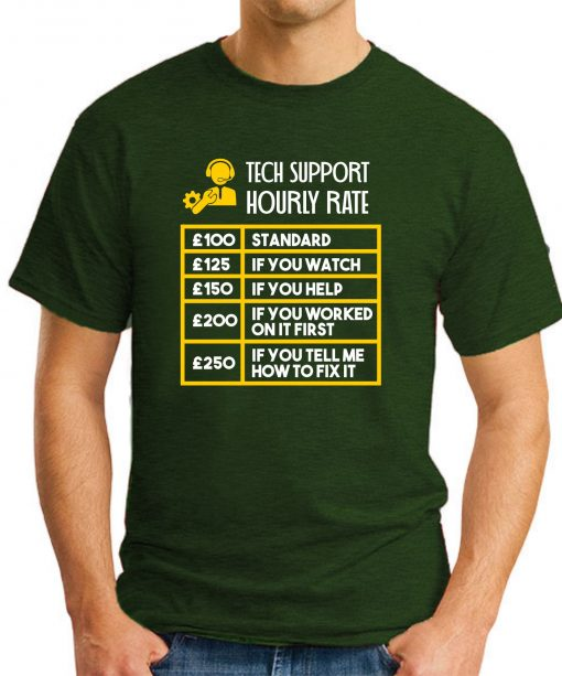 TECH SUPPORT HOURLY RATE forest green