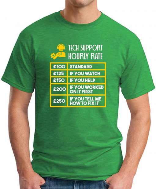 TECH SUPPORT HOURLY RATE green