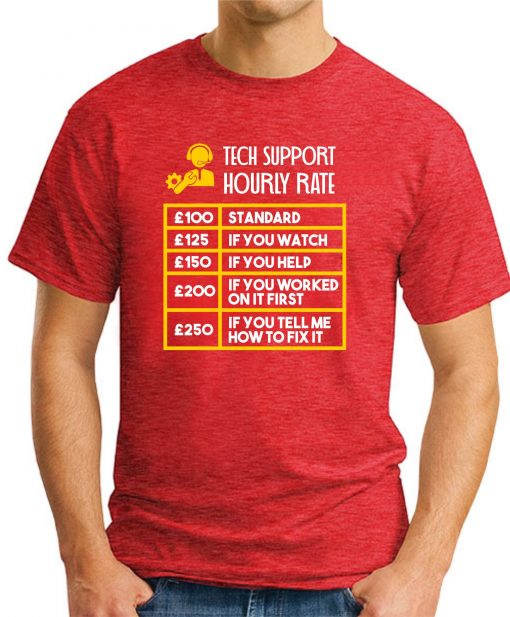 TECH SUPPORT HOURLY RATE red