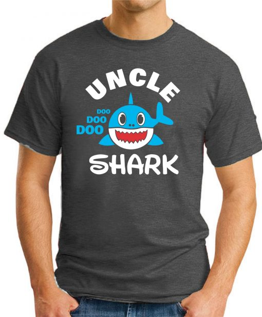 UNCLE SHARK dark heather