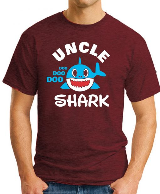 UNCLE SHARK maroon