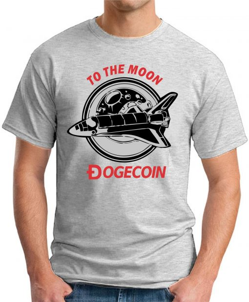 DOGECOIN TO THE MOON ash grey