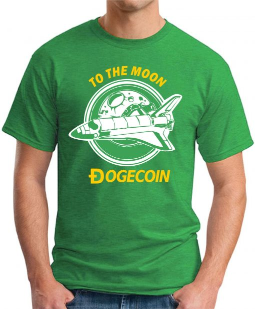 DOGECOIN TO THE MOON green