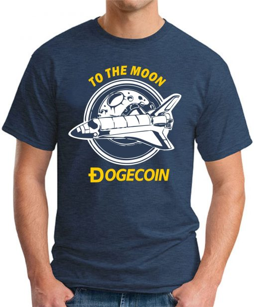 DOGECOIN TO THE MOON navy