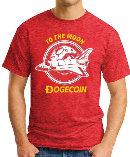DOGECOIN TO THE MOON red