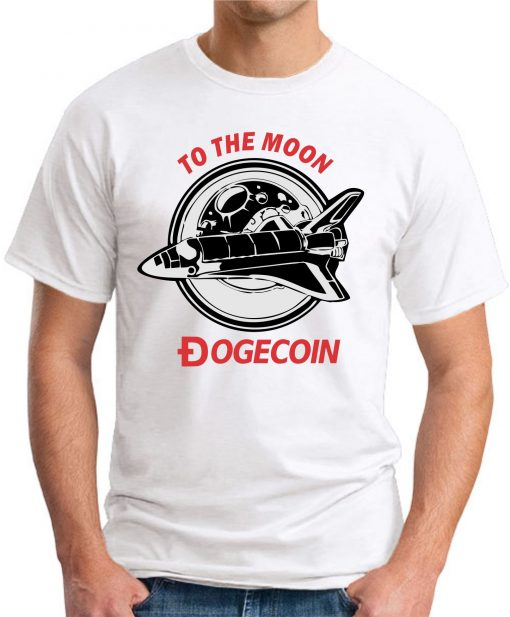 DOGECOIN TO THE MOON white