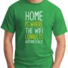 Home is where the WIFI connects Automatically green