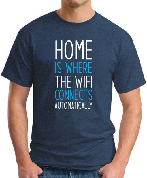 Home is where the WIFI connects Automatically navy
