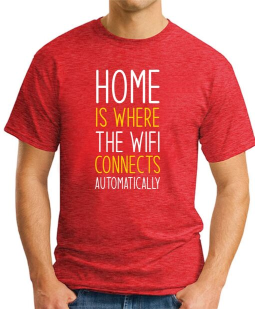 Home is where the WIFI connects Automatically red